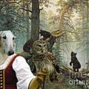 Borzoi - Russian Wolfhound Art Canvas Print Poster