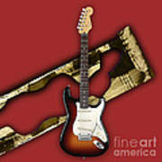 Fender Stratocaster Collection Poster