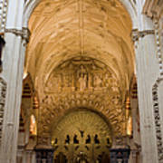 Mezquita Cathedral Interior In Cordoba Poster