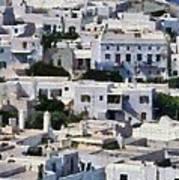 Mykonos Town Poster