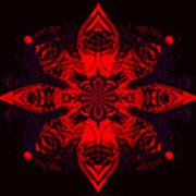 1107 - Mandala Red   Poster