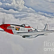 A P-51d Mustang In Flight Poster