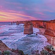 12 Apostles At Sunset Pano Poster