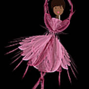 12 Pink Ballerina Poster