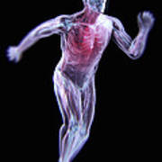 Running Male Figure Poster