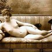 Vintage Nude Postcard Image Poster