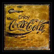 Coca Cola Sign Grungy Retro Style Poster