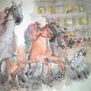 Italian Il Palio Horse Race Album Poster