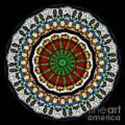 Kaleidoscope Stained Glass Window Series Poster
