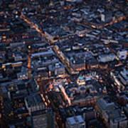 Belfast At Night, Northern Ireland Poster