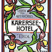 Luggage Label Poster