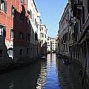Narrow Canal Venice Italy Poster