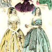 Women's Fashion, 1842 Poster