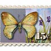 15 Cent Butterfly Stamp Poster