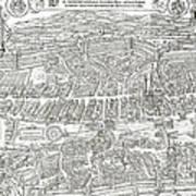 1576 Zurich Switzerland Map Poster
