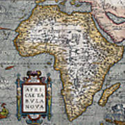 1584 Map Of Mysterious Africa Poster