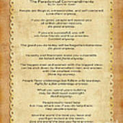 159- The Paradoxical Commandments Poster