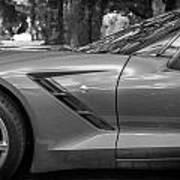 2014 Chevrolet Corvette C7 Bw   Poster