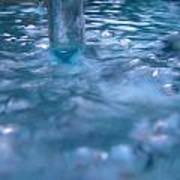 Australia - Deep Blue White Water Colour Poster