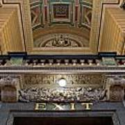 Interior Of St Georges Hall Liverpool Uk Poster