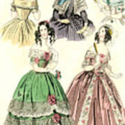 Women's Fashion, 1842 Poster