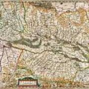1644 Jansson Map Of Alsace Basel And Strasbourg Geographicus Alsatiasuperior Jansson 1644 Poster