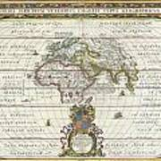 1650 Jansson Map Of The Ancient World Poster
