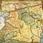 1657 Visscher Map Of The Holy Land Or The Earthly Paradise Geographicus Gelengentheyt Visscher 1657 Poster