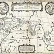 1658 Jansson Map Of The Indian Ocean Erythrean Sea In Antiquity Geographicus Erythraeansea Jansson 1 Poster