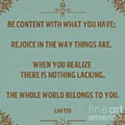 169- Lao Tzu Poster