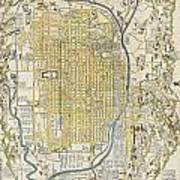 1696 Genroku 9 Early Edo Japanese Map Of Kyoto Japan Poster