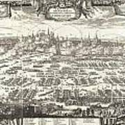 1697 Pufendorf View Of Krakow Cracow Poland Poster