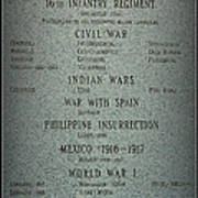 16th Infantry Regiment History Poster