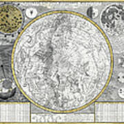 1700 Celestial Planisphere Poster by Daniel Hagerman