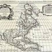 1708 De Lisle Map Of North America Poster