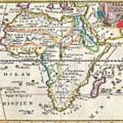 1710 De La Feuille Map Of Africa Poster