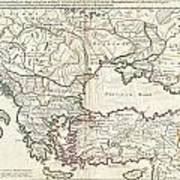 1715 De  Lisle Map Of The Eastern Roman Empire Under Constantine  Poster