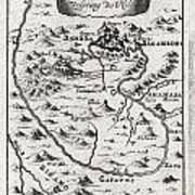 1719 Mallet Map Of The Source Of The Nile Ethiopia Poster by Paul Fearn