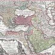 1730 Seutter Map Of Turkey Ottoman Empire Persia And Arabia Poster