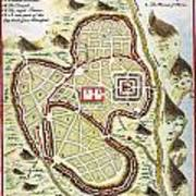 1730 Street Map Or Plan Of Jerusalem Geographicus Jerusalem Uk 1730 Poster