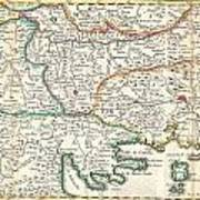 1738 Ratelband Map Of The Balkans Poster