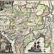 1740 Seutter Map Of India Pakistan Tibet And Afghanistan Poster