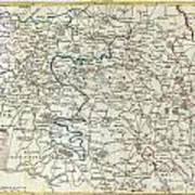 1740 Zatta Map Of Central France And The Vicinity Of Paris  Poster