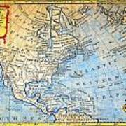 1747 Bowen Map Of North America Geographicus Northamerica Bowen 1747 Poster