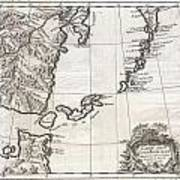 1750 Bellin Map Of The Kuril Islands Poster