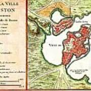 1756 Bellin Map Of Boston Massachusetts Geographicus Boston2 Bellin 1756 Poster