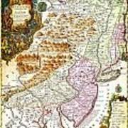 1756 Lotter Map Of Pennsylvania New Jersey New York Geographicus Pensylvanianovajersey Lotter 1756 Poster