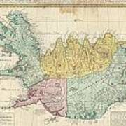 1761 Homann Heirs Map Of Iceland Poster