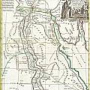 1762 Bonne Map Of Egypt  Poster