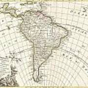 1762 Janvier Map Of South America  Poster